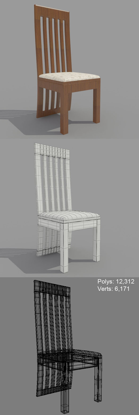 Dining Chair-1 - 3DOcean Item for Sale