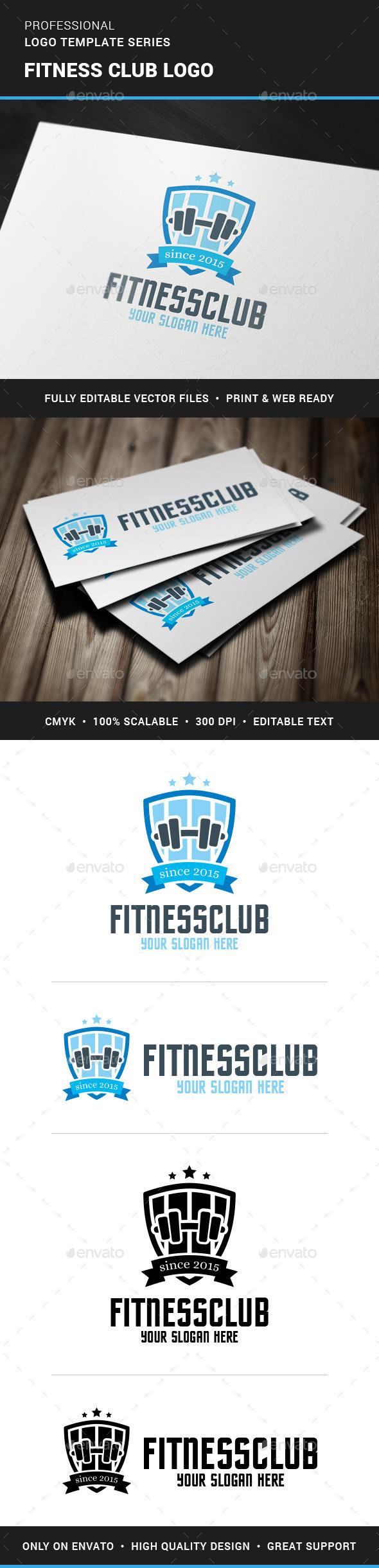 GraphicRiver Fitness Club Logo Template 11401735