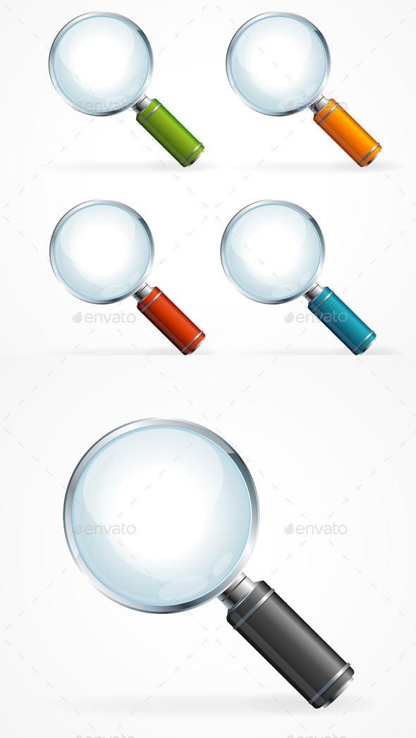 GraphicRiver Magnifying Glass Icon Set 11401740