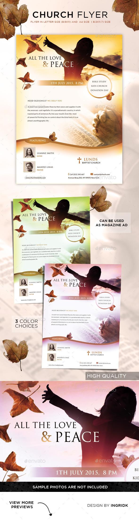 GraphicRiver Church Flyer Magazine Ad 11401833