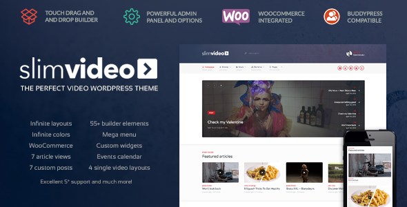ThemeForest Slimvideo Video WordPress Community Theme 11354429