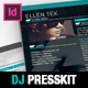 Vice: Dj / Musician OnePage Resume Indesign Template - GraphicRiver Item for Sale