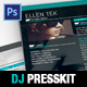 Vice: Dj / Musician OnePage Resume PSD Template - GraphicRiver Item for Sale