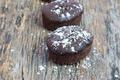 Close up Muffins chocolate on old wood - PhotoDune Item for Sale
