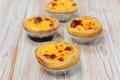 delicious egg tart on wood background - PhotoDune Item for Sale