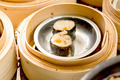 dim sum in bamboo steamer, chinese cuisine - PhotoDune Item for Sale