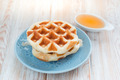 Whole wheat waffles with honey syrup - PhotoDune Item for Sale