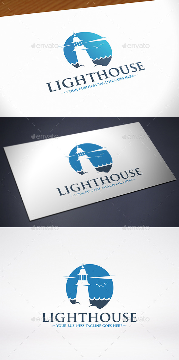 GraphicRiver Lighthouse Water Logo Template 11402033