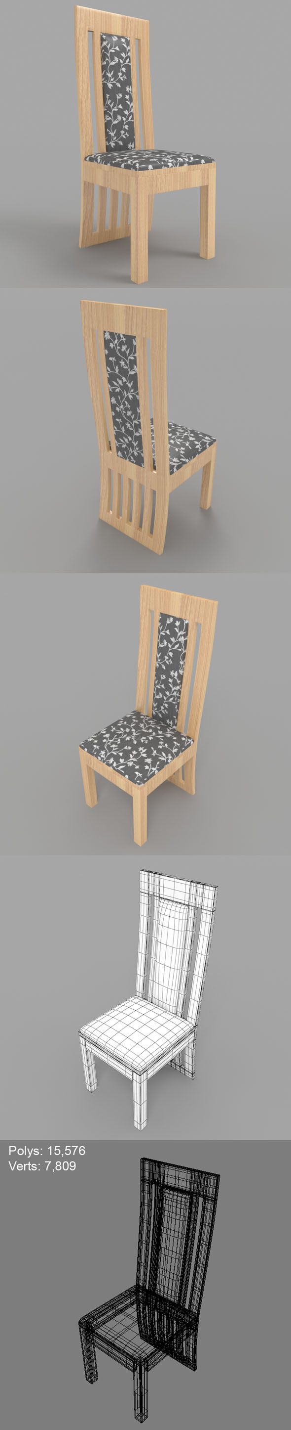 Dining Chair-2 - 3DOcean Item for Sale