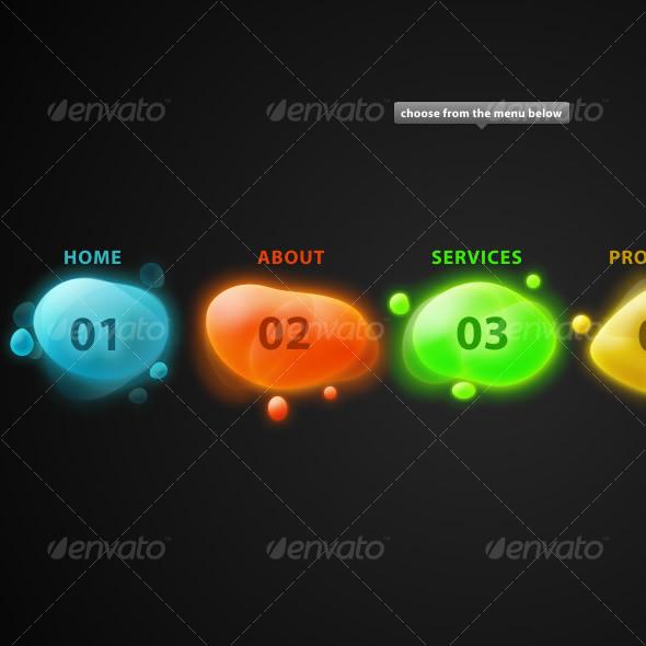 GraphicRiver Colorful Menu 45255