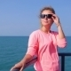 Attractive Female On a Yacht At Summer Day In Sea - VideoHive Item for Sale
