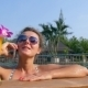 Smiling Woman Talking On The Phone And Bathing In - VideoHive Item for Sale