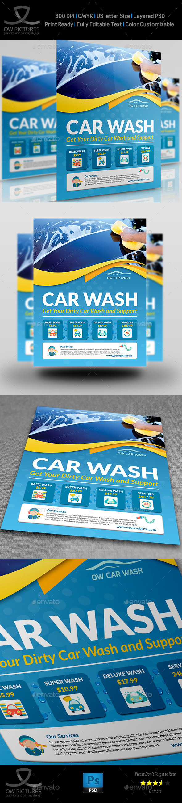car wash poster template free - car wash services flyer templates graphicriver