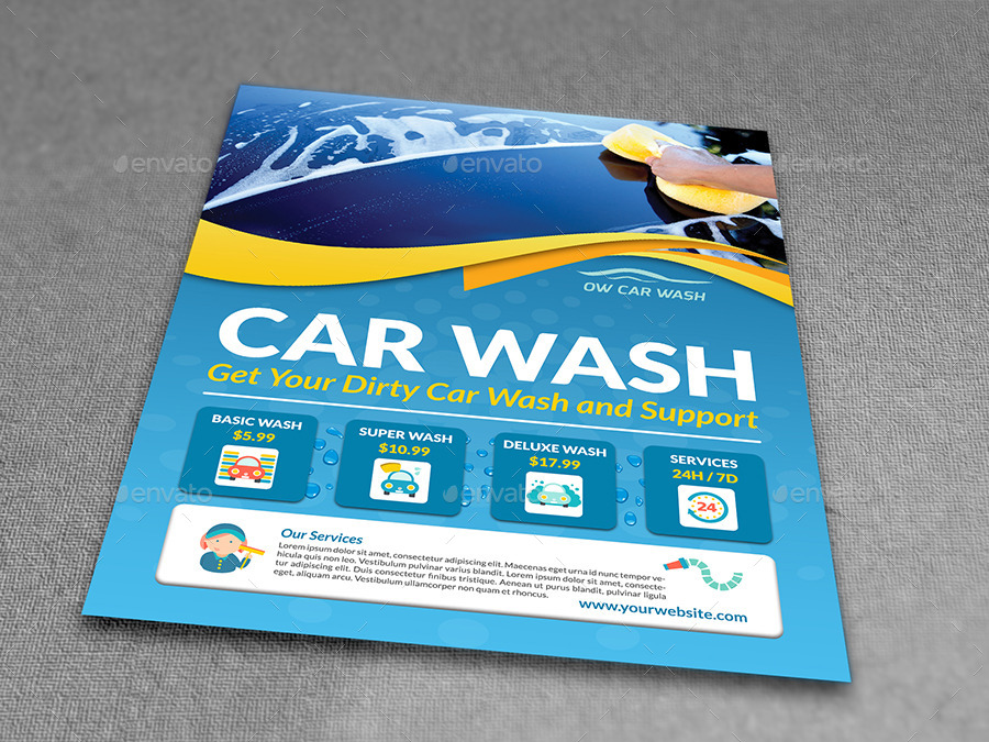 Car Wash Services Flyer Templates by OWPictures – Car Wash Flyer Template
