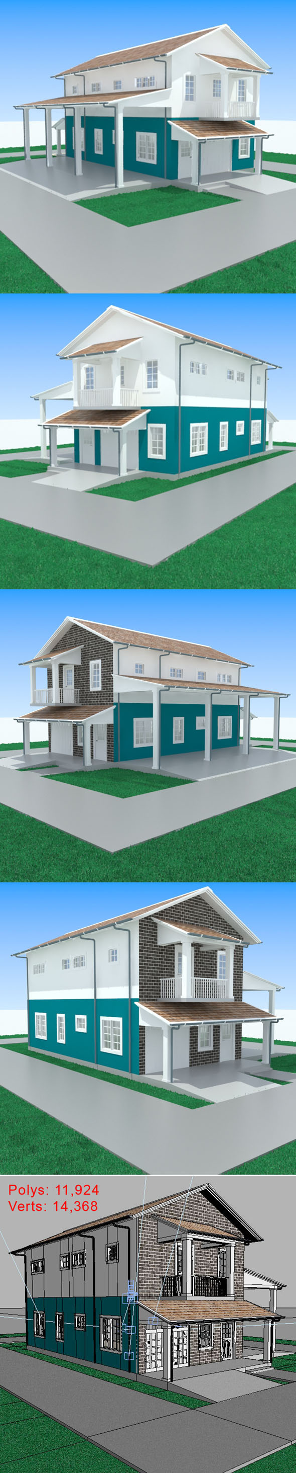 3DOcean Apartment with garage-1 11403101