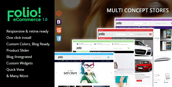 ThemeForest Folio Multipurpose Responsive Magento Theme 10916872