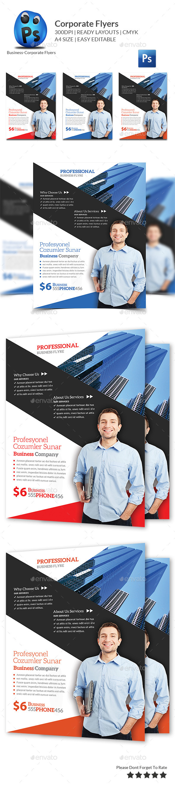 GraphicRiver Multipurpose Business Flyers Templates 11403291