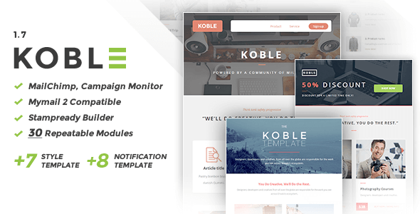 Koble | Business Email Set - Newsletters Email Templates