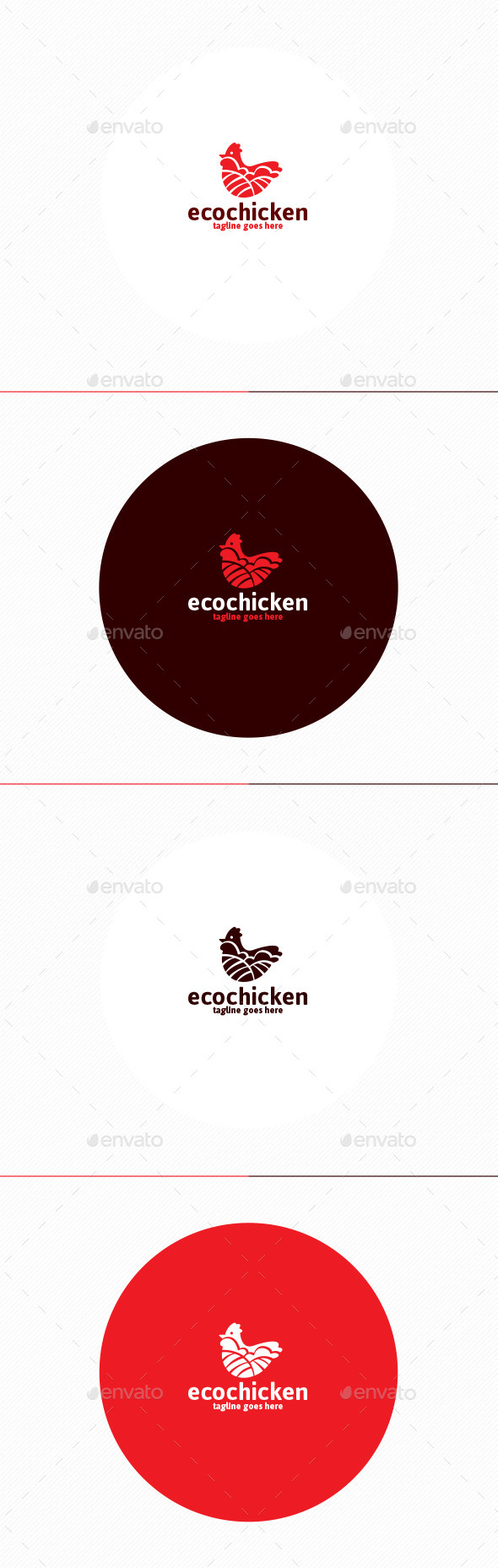 GraphicRiver Eco Chicken Logo 11403423