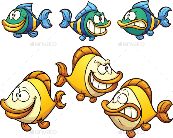 GraphicRiver Cartoon Fish 11403619