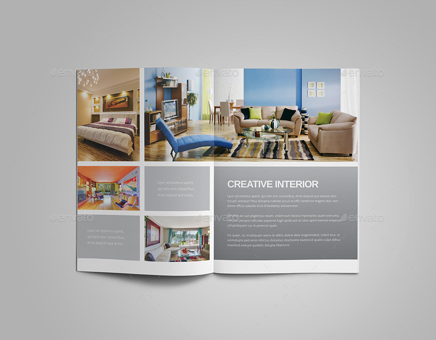 Interior design brochure by meenom graphicriver for Furniture brochure design inspiration