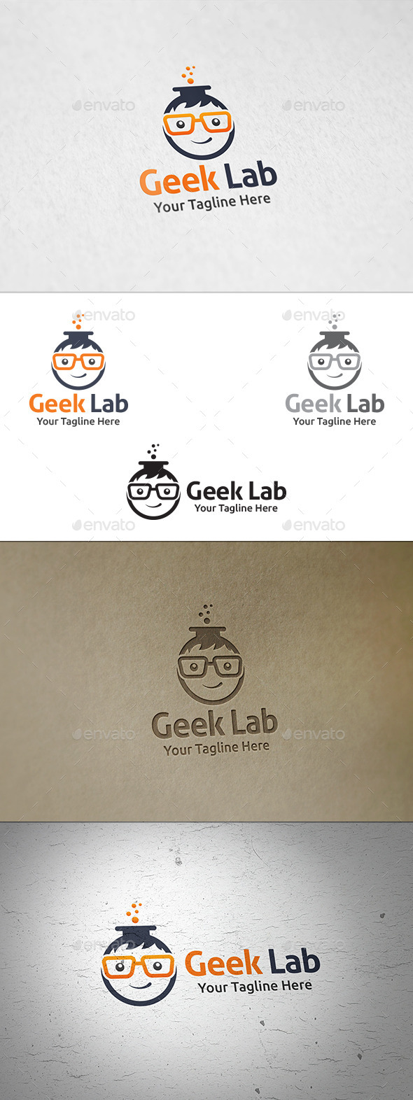GraphicRiver Geek Lab Logo Template 11403728
