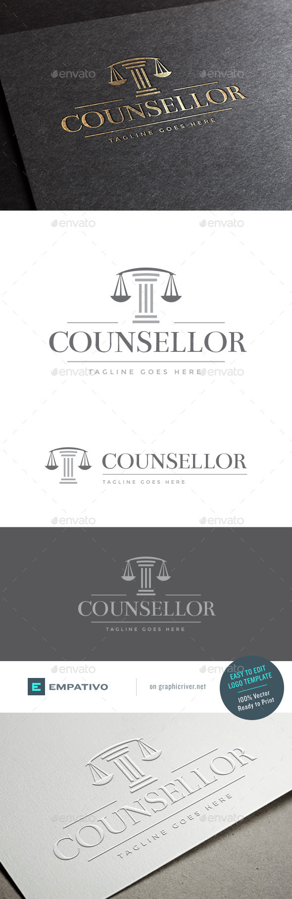GraphicRiver Counsellor Logo Template 11403876