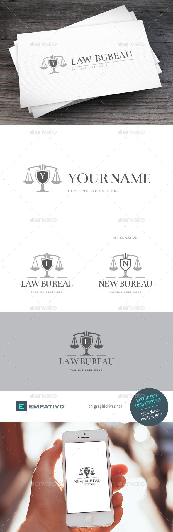 GraphicRiver Law Bureau Logo Template 11403885