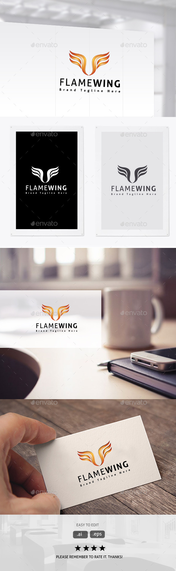 GraphicRiver Flame Wing 11403950