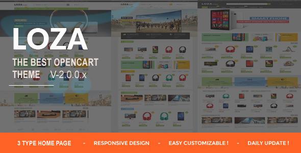 ThemeForest Lozastore- Multipurpose Responsive OpenCart Themes 11306111