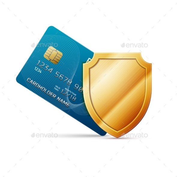 GraphicRiver Credit Card with Shield 11404058