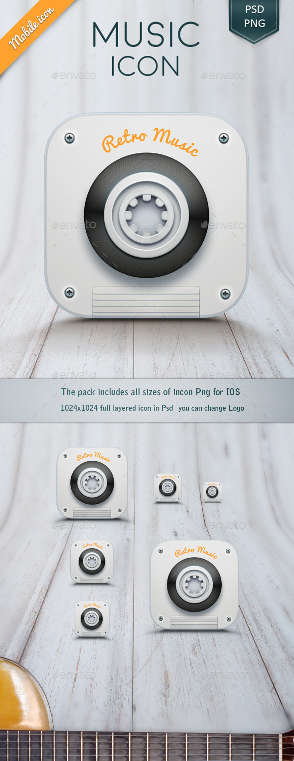GraphicRiver Music App Icon 11404237