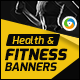 Health and Fitness Banners - GraphicRiver Item for Sale