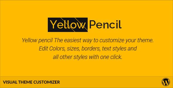 CodeCanyon Yellow Pencil Visual Theme Customizer 11322180