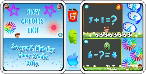 CodeCanyon Math game for kids Mobile Game 11404476