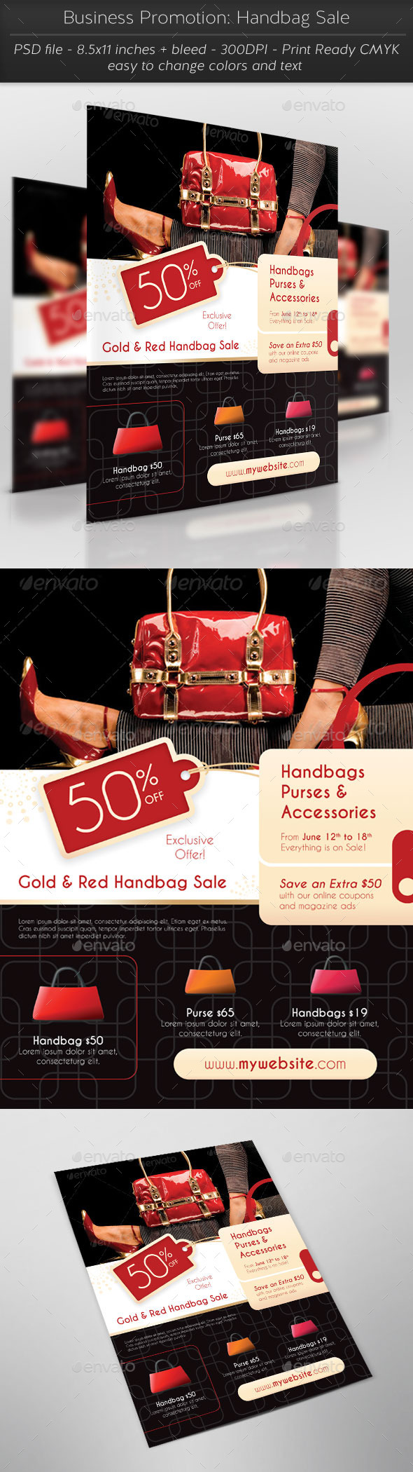 GraphicRiver Business Promotion Handbag Sale 11405040