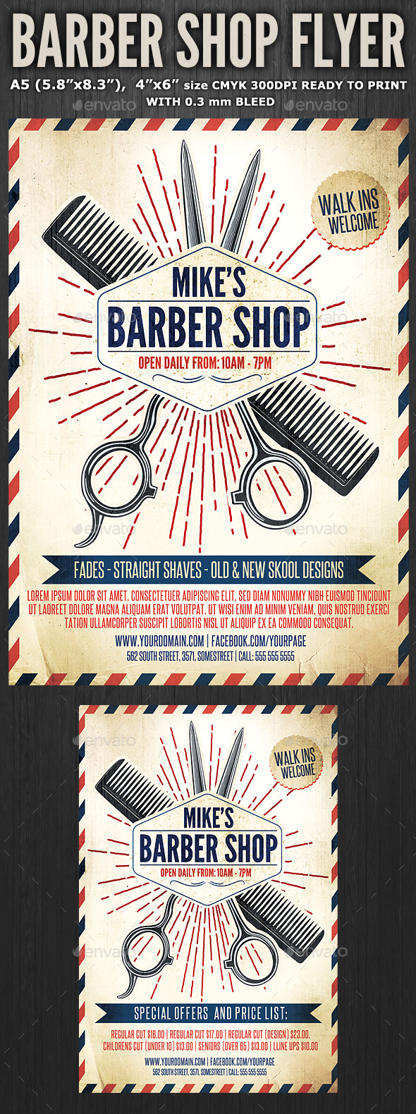 GraphicRiver Barber Shop Flyer Template 3 11405459