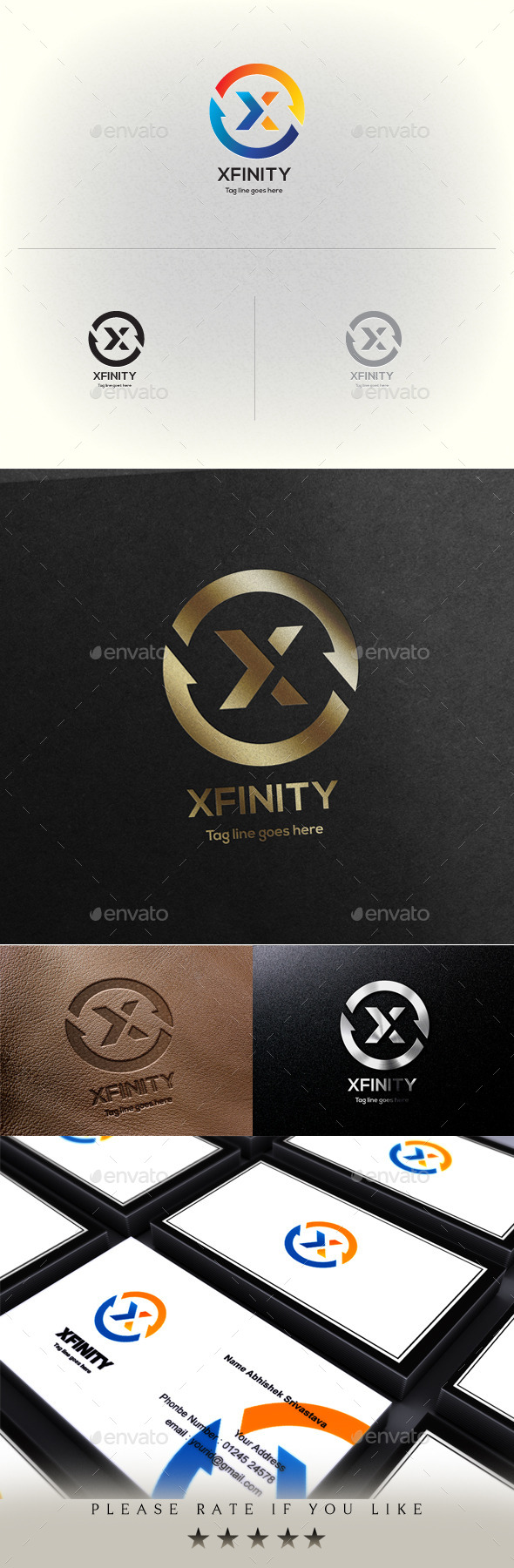 GraphicRiver Xfinity X Letter Logo Template 11403035
