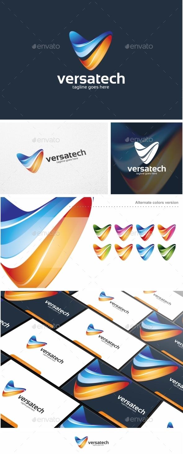 GraphicRiver Versatech V Letter Logo Template 11405493