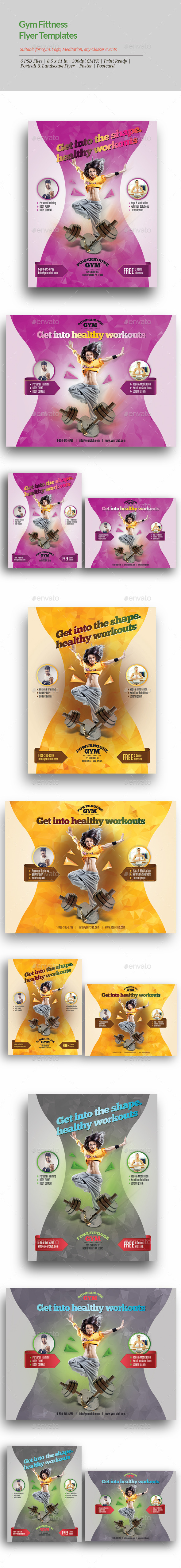 GraphicRiver Gym Fitness Flyer Templates 11405565