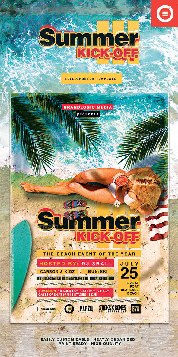 GraphicRiver Summer Party Flyer Poster II 11337850