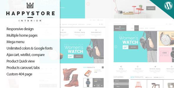 ThemeForest HappyStore Responsive WordPress WooCommerce Theme 11334273