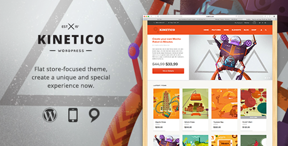 Kinetico - Responsive WordPress E-Commerce