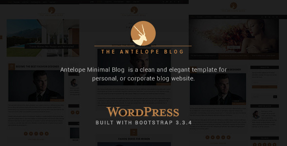 ThemeForest Antelope Minimal Wordpress Blog 11405808