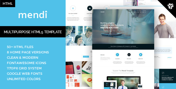 ThemeForest Mendi MultiPurpose Corporate HTML5 Template 11339868
