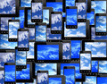 smart-phones and tablets with image of blue sky - PhotoDune Item for Sale