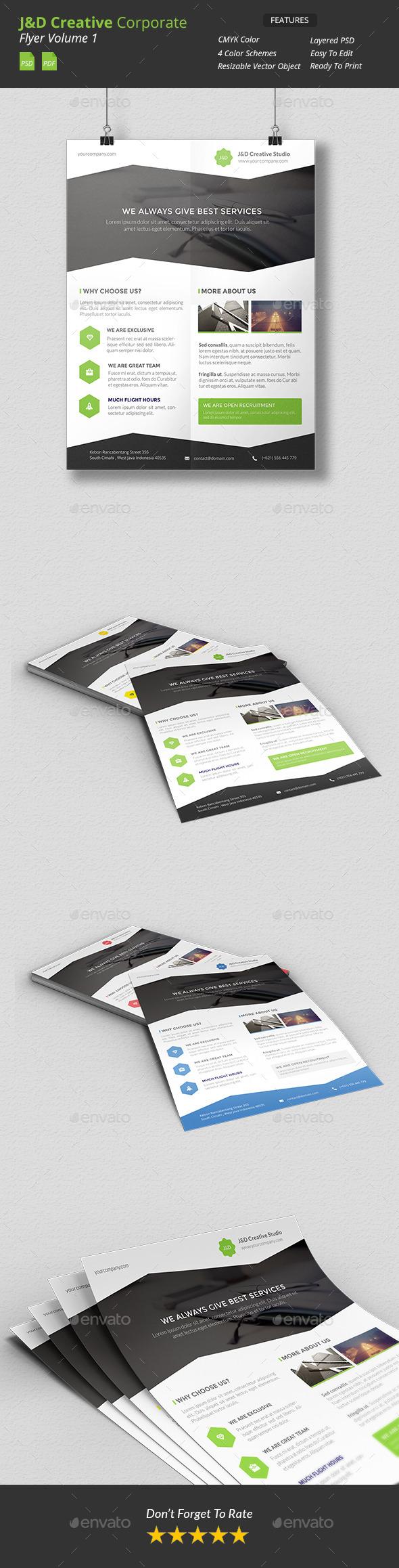 GraphicRiver JnD Creative Corporate Flyer 11405874