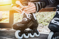 dressing roller skates for skating - PhotoDune Item for Sale