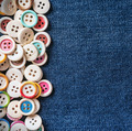 different Buttons with blue jeans - PhotoDune Item for Sale