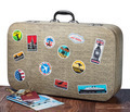 retro suitcase with stikkers - PhotoDune Item for Sale